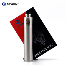 100% Authentique Mechnical Kit Chapelier fou Mini Kit Argent 22mm Fou chapelier Mini Kit Fit pour Unique 18650 Batterie Mech Kit Par Advken
