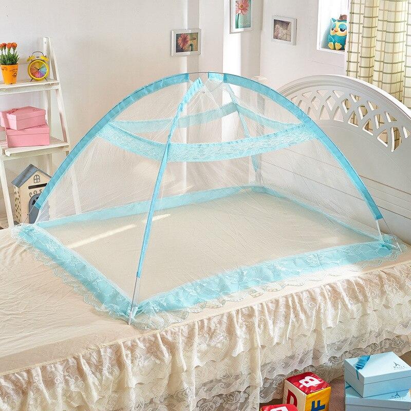 Wholesale Upgrade Mongolian Yurts Baby Sleeping Crib Nettng Princess Mosquito Netting Newborn Bed Foldable Crib Net With Bracket