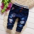Envío gratis Primavera y Otoño de los niños pantalones de mezclilla, niño y niña bebé pantalones vaqueros, pantalones del cabrito # Z1501