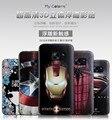 Para Samsung Galaxy S7 cubierta de la caja delgado estéreo 3D pintura alivio contraportadas de silicio de la historieta TPU Protector del teléfono bolsa casos Funda
