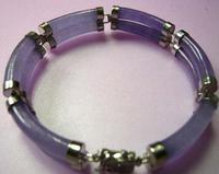 fine 2 row green/purple/Multi Color stone bangle bracelet 7.5inch/19cm Wedding Girl Woman MEN Quartz jewelry Silver