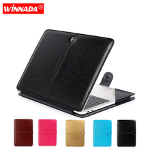 For macbook air 13 case, PU Leather laptop case For Apple Mac Book Air Pro Retina 11 12 13 15 inch with Touch Bar notebook bag hot zipper computer sleeve case for macbook laptop air pro retina 11 12 13 14 15 13 3 15 4 15 6 inch notebook touch bar bag
