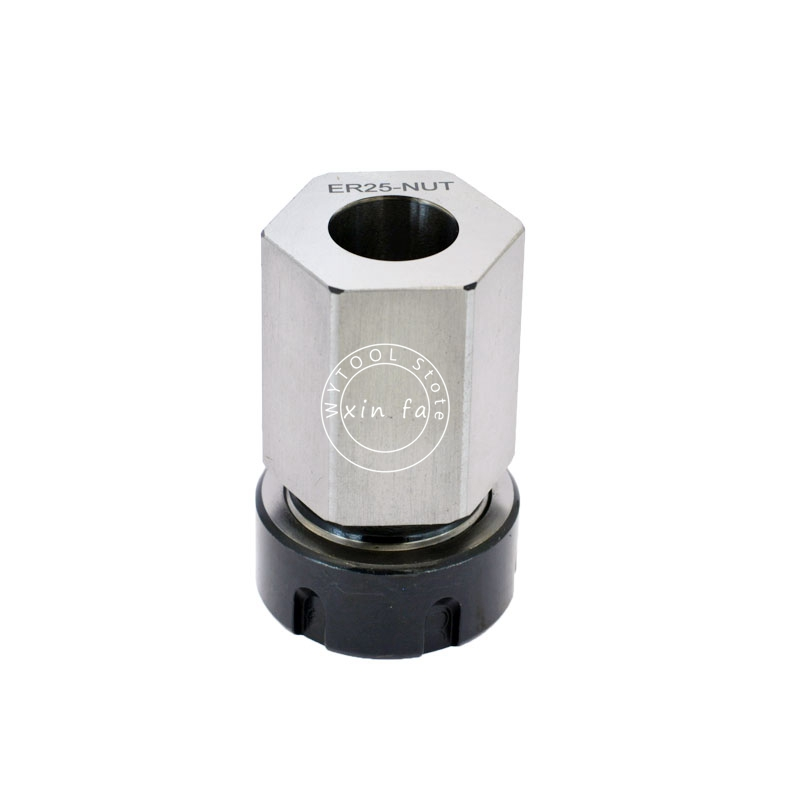 Image 2 - 1PCS Spring Chuck Collet Holder Hex ER32 ER25 Collet Block 45x65mm For Lathe Engraving Machine-in Tool Holder from Tools