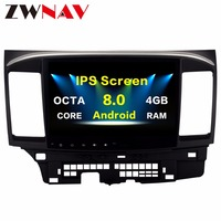 Octa 8core Android 8.0 Car Multimedia Player GPS for MITSUBISHI LANCER headunit video player Radio video Stereo 10.2 inch no dvd