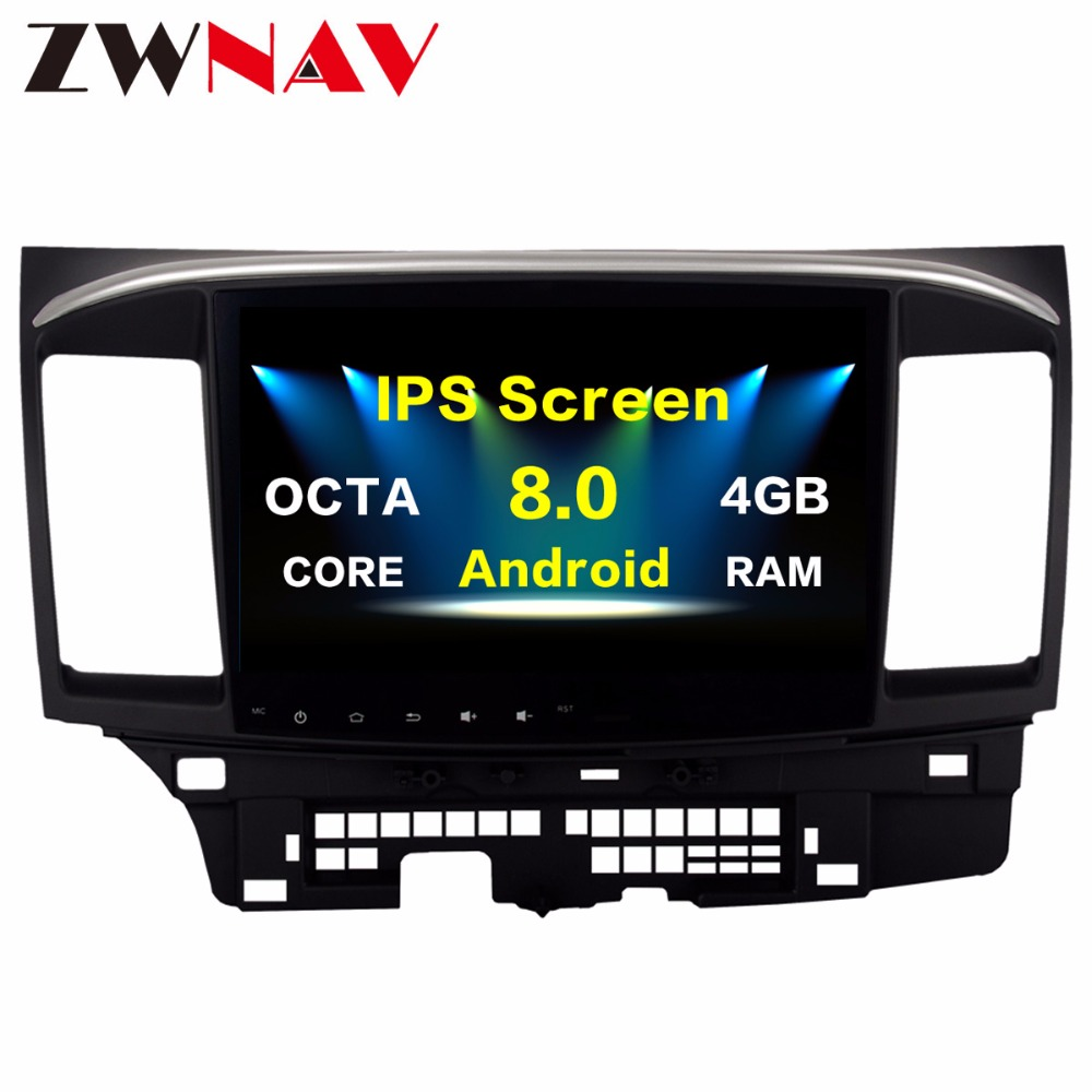 Octa 8core <font><b>Android</b></font> <font><b>8.0</b></font> <font><b>Car</b></font> Multimedia Player GPS for MITSUBISHI LANCER headunit video player Radio video <font><b>Stereo</b></font> <font><b>10.2</b></font> inch no dvd image