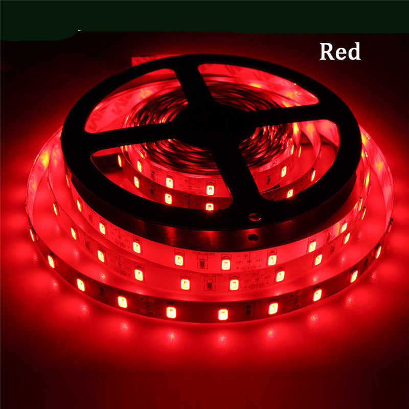 5M 300Leds Led Strip Light SMD3528 DC12V 60Leds/M Flexible Lighting String Ribbon Tape Home Decoration Lamp With 12V 2A Adapter