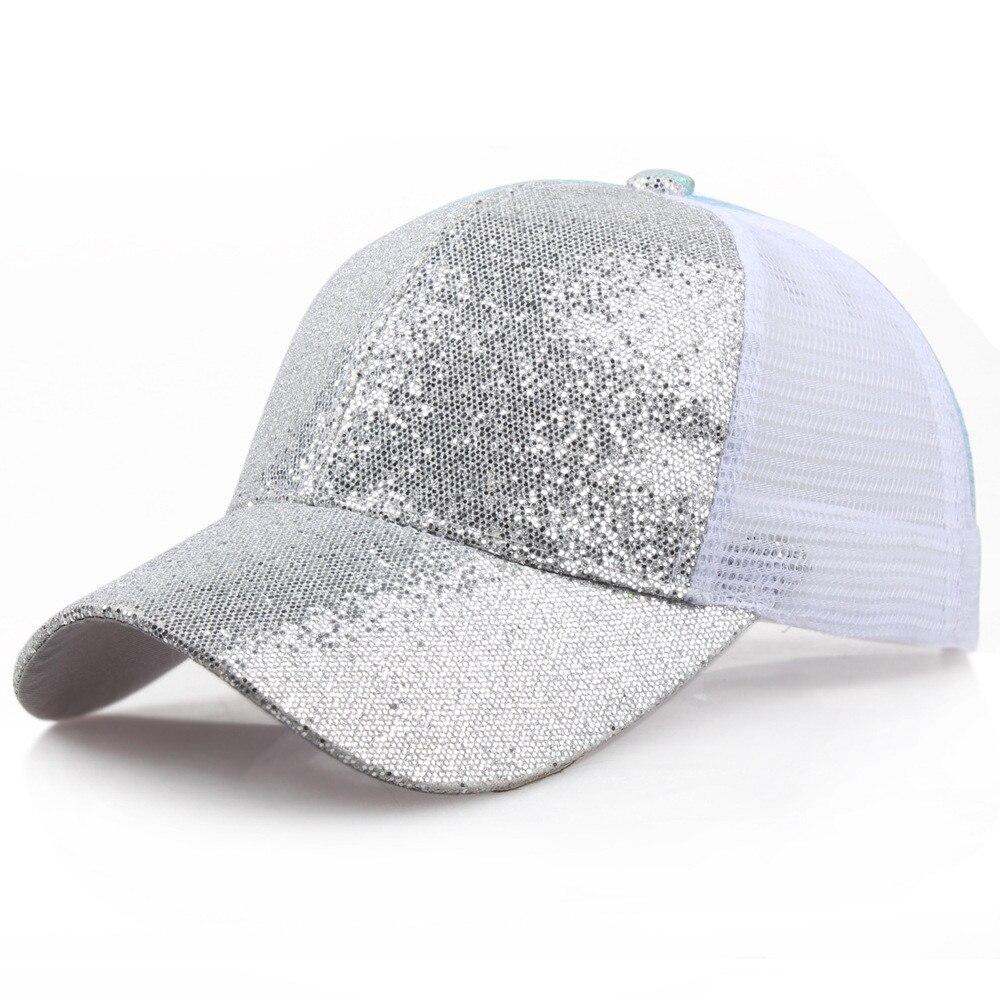 Блестящая бейсбольная кепка с хвостом, женский рюкзак, грязная летняя шапка, Женская регулируемая бейсболка, шляпы в стиле хип-хоп, новая мода - Цвет: SL