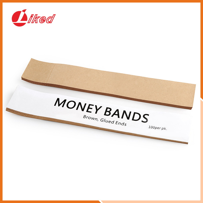 Pack of 3000 7.5 x 1.25 inches Money Bands Currency Sleeves Straps Counter Recyclable Kraft Pap Made in USA Self-Adhesive Assorted Money Wrappers for Bills Color Coded Wraps Meets ABA Standards