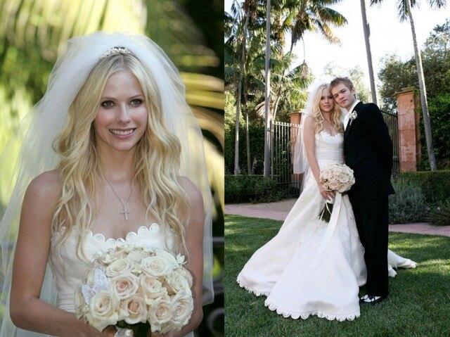 Two Layers 3 M Avril Lavigne Wedding Veil Bridal Veils