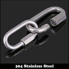 M3.5 M4 M5 M6 M8 M10 M12 304 Stainless Steel Safety Carabiner Climbing Lock Quick Link Backpack Shackle Hook Clasp Chain Buckle