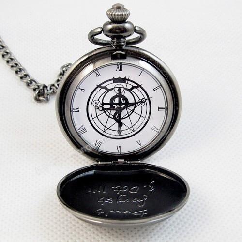 New Silver Tone Fullmetal Alchemist Pocket Watch Cosplay Edward Elric Anime Gift-in Pocket & Fob ...