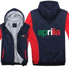 Aprilia мотоциклетная толстовка, Мужская толстовка на молнии, флисовая утепленная толстовка Aprilia, одежда для мужчин