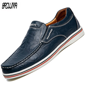 Men Leather Boat Shoes Casual