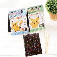 Симпатичные Kawaii Катушки Граффити Ноутбук Прекрасный Pokemon Идти Альбом Для Рисования Школьные Принадлежности Бесплатная Доставка 2041