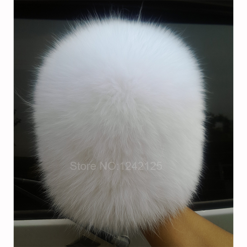 New winter Russia women fur hat Parent-child children warm knitting white fox fur hats real fur elastic female Skullies Beanies women cap skullies