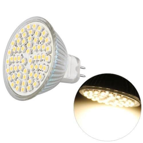 Купить с кэшбэком 6x MR16 GU5.3 Blanc 60 SMD 3528 Economie d'energie LED Projecteur ampoule lampe 12V corn led spotlight led lighting lamp