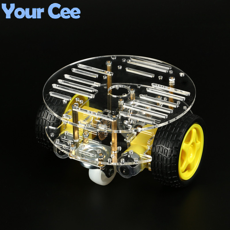DIY Kit Smart Robot Car Electronic Production TT Motor Automobile Parts Assembly Suite Speed Encoder Battery Box 2WD For Arduino