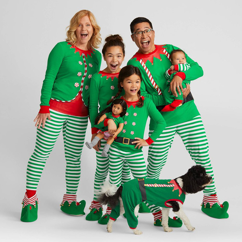 Hot Sale Family Matching Outfits Kids Boys Girls Christmas Pajamas ...