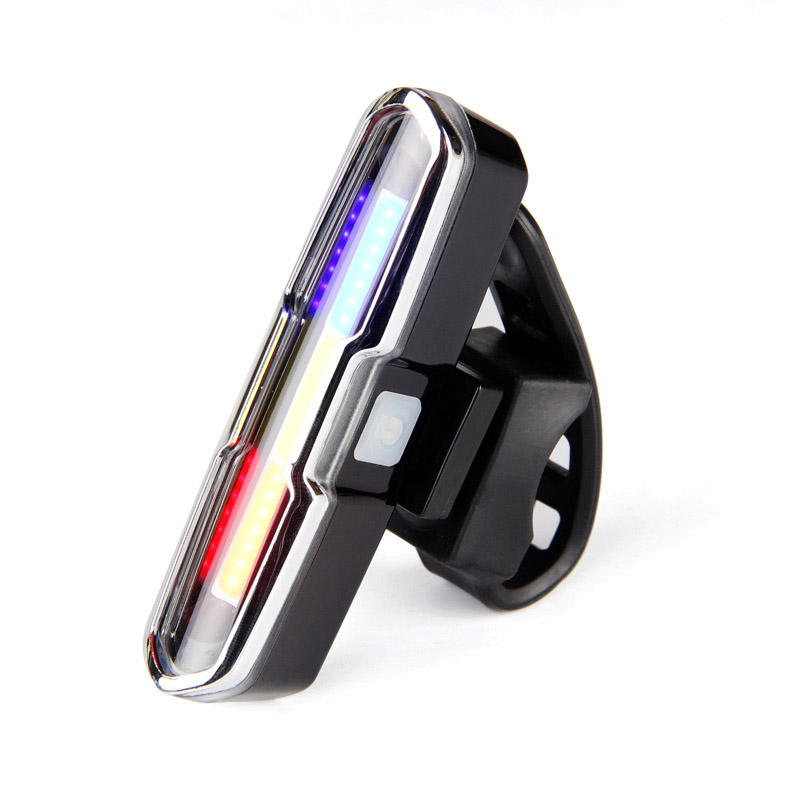 USB Rechargeable Front Rear Bicycle Light Lithium Battery LED Bike Taillight Cycling Helmet Light Lamp Mount Bicycle Accessori