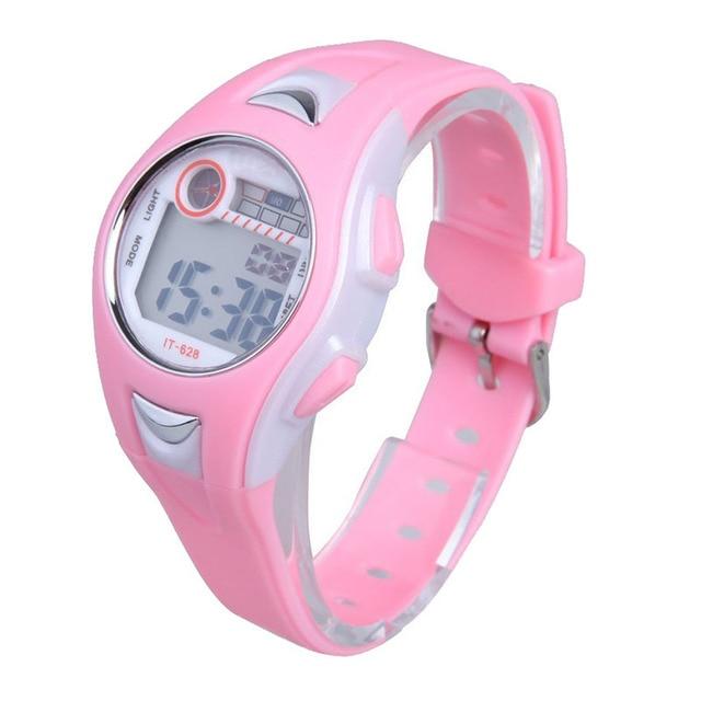 Children's Time Clock Sport Digital Watch Hours Electronic Multifunctional 30m W