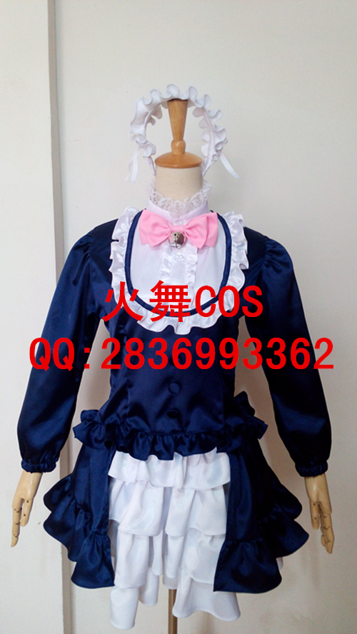Hot Anime SHOW BY ROCK Cyan new Lolita Party Dress Skirt Cosplay Costume Custom made Any