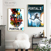 Portal 2 Game Style Modern Decorative Wall Pictures For Living Room Canvas Painting Art No Frame Posters And Prints Home Decor бальзам для волос l oreal paris l oreal paris lo006lwatkl9