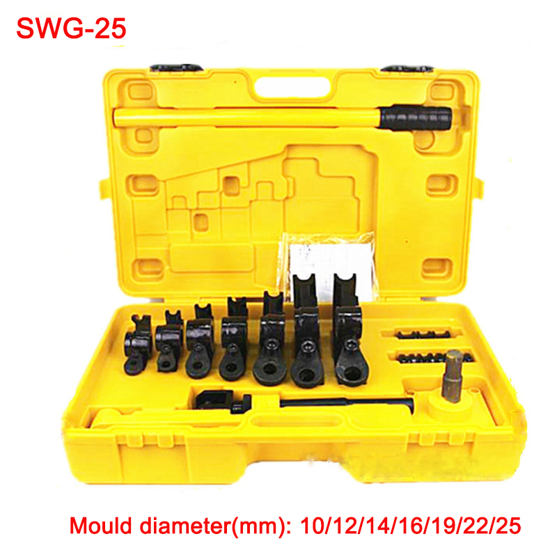Free ship SWG-25 Manual pipe and tube bending machine Hand tube bender U bending tools iron/steel/copper/aluminum tube bender free ship 5pcs copper heatpipe 260 10 4mm diy copper tube radiator sintered powder wick thermal solution copper pipe heatsink