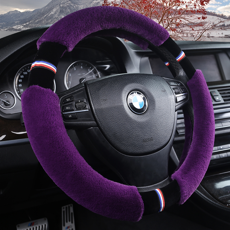 New Winter Car Steering Wheel Cover Fashion Plush Splicing Steering Wheel Covers,Car Styling ,