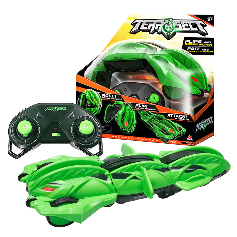 Outdoor-Toys Remote-Control Transforming Terrasect ABS Green Vehicle-Roll Flip