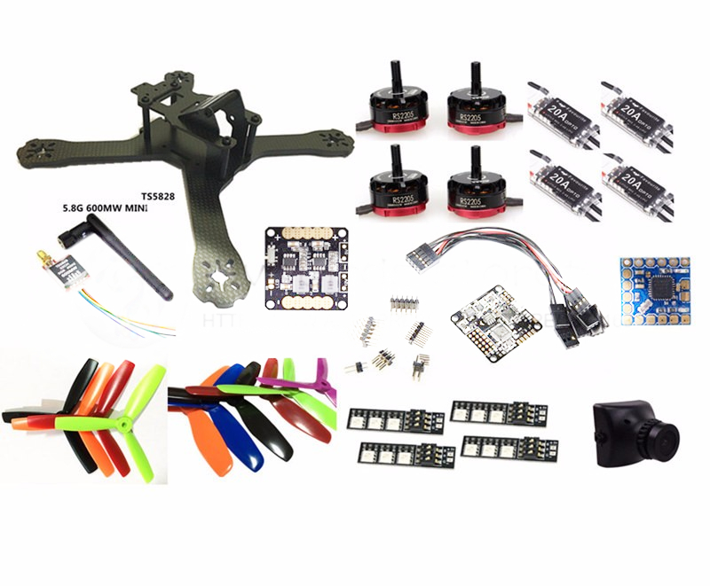 DIY FPV mini drone with camera QAV-X 214mm 3/4 frame kit EMAX RS2205 + littlebee BL20A ESC 2-4S + NAZE32 Rev6 10DOF + TS5828 mini 130mm carbon fiber fpv quadcopter frame kits with emax 1306 4000kv motor littlebee blheli s spring 20a esc f3 f4 fc ts5823l