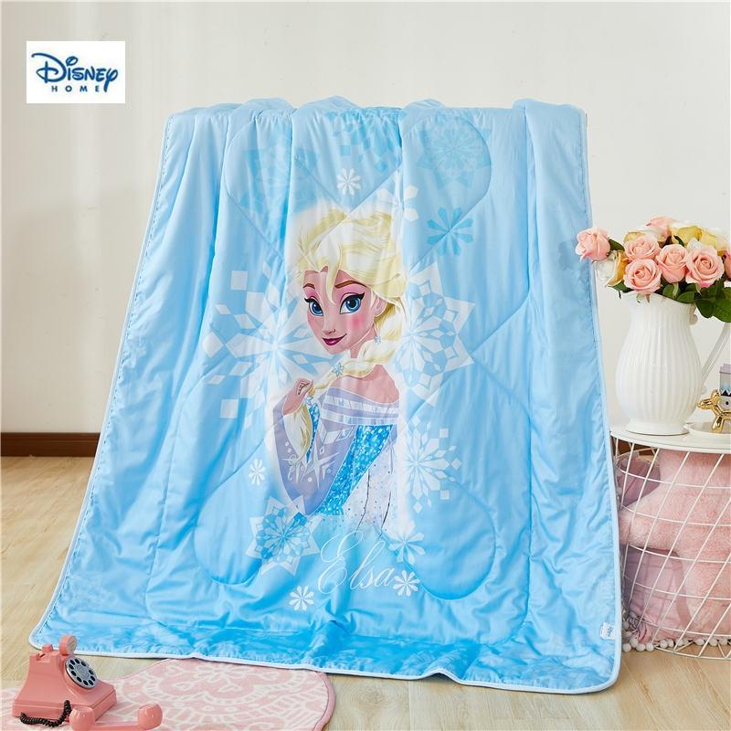 Bleu congelé elsa princesse mince couette disney 3d dessin animé été couette coton couverture fille chambre décor lit couverture garçon enfant cadeau