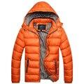 Горячая Продажа! зима Мужчины Теплый Пуховик Случайные Куртка Вскользь Красивый Зимнее Пальто Для Мужчин
