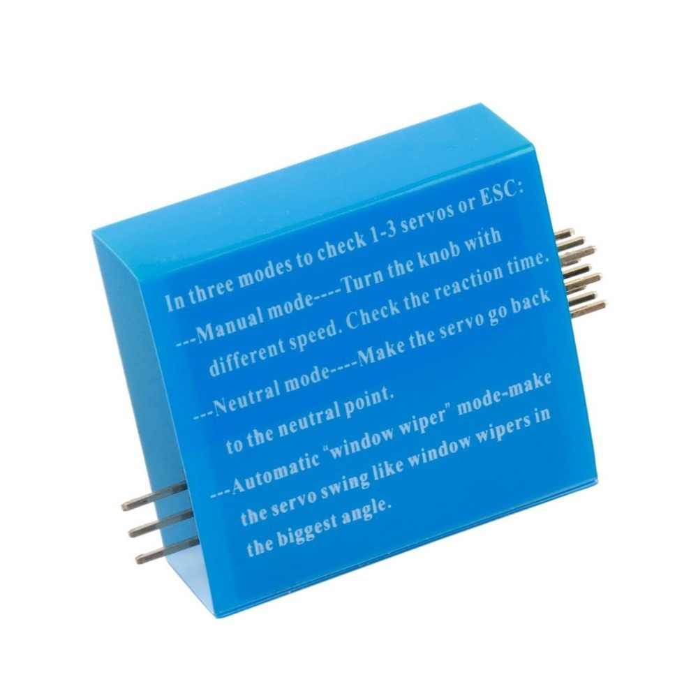 Nuevo comprobador de varios servos 3CH ECS congruencia control de velocidad canales de alimentación CCPM medidor Venta caliente