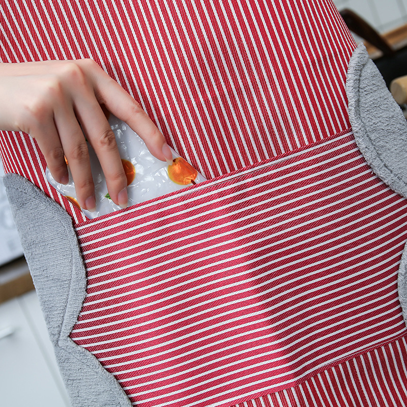 Bib Apron Kitchen Apron Adjustable Waterproof Oil free with Handtowel Home Cooking Cleaning Tools Gadgets Kitchen Accessories in Aprons from Home Garden
