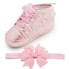 Baby Дети Малышей Sapato Младенческой Роуз Цветок Мягкой Подошвой Девушка Обувь Ребенка Сначала Ходунки Ручной Работы Младенца Дизайнеры Обувь Стиль Оптовая
