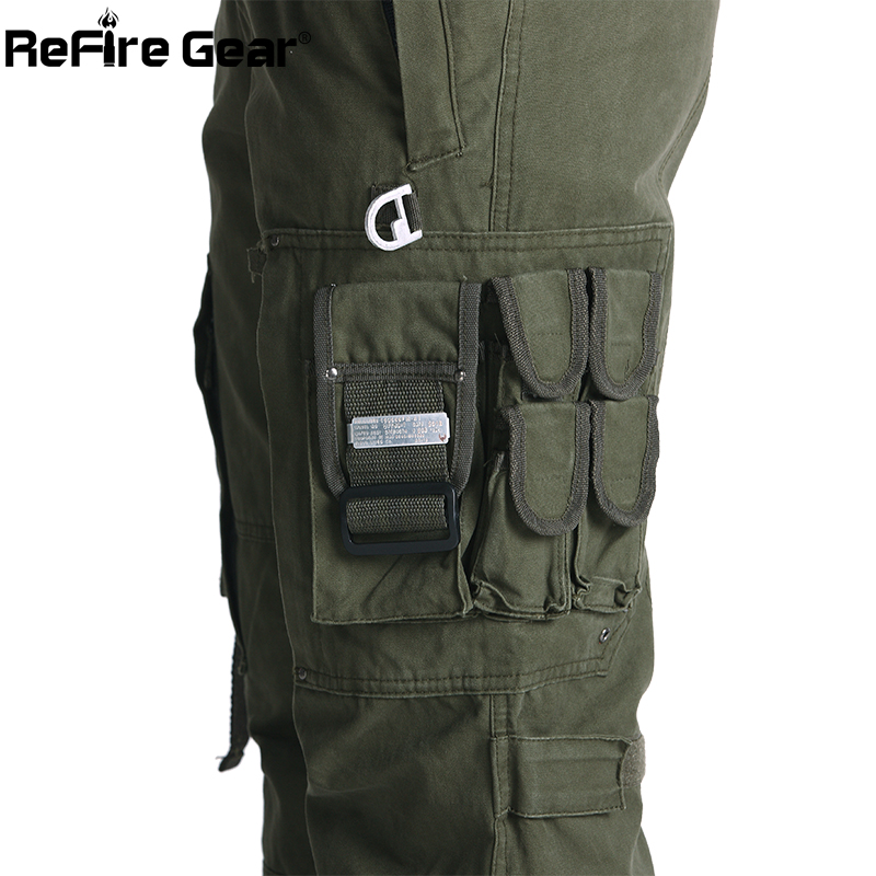 ReFire Gear SWAT 101 Airborne Army Pants Men US Security Combat Tactical Cargo Pants Casual Cotton Many Pocket Military Trousers