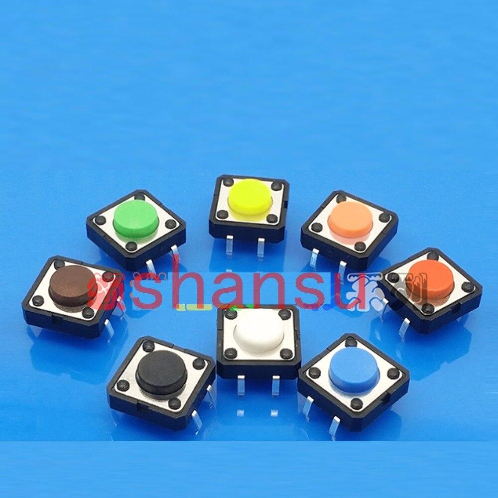 Бесплатная доставка, сенсорный выключатель света 12*12*9 мм, 4-футовый микро-переключатель DIP-ключ, 12x12x9 мм, вертикальный, четыре фута