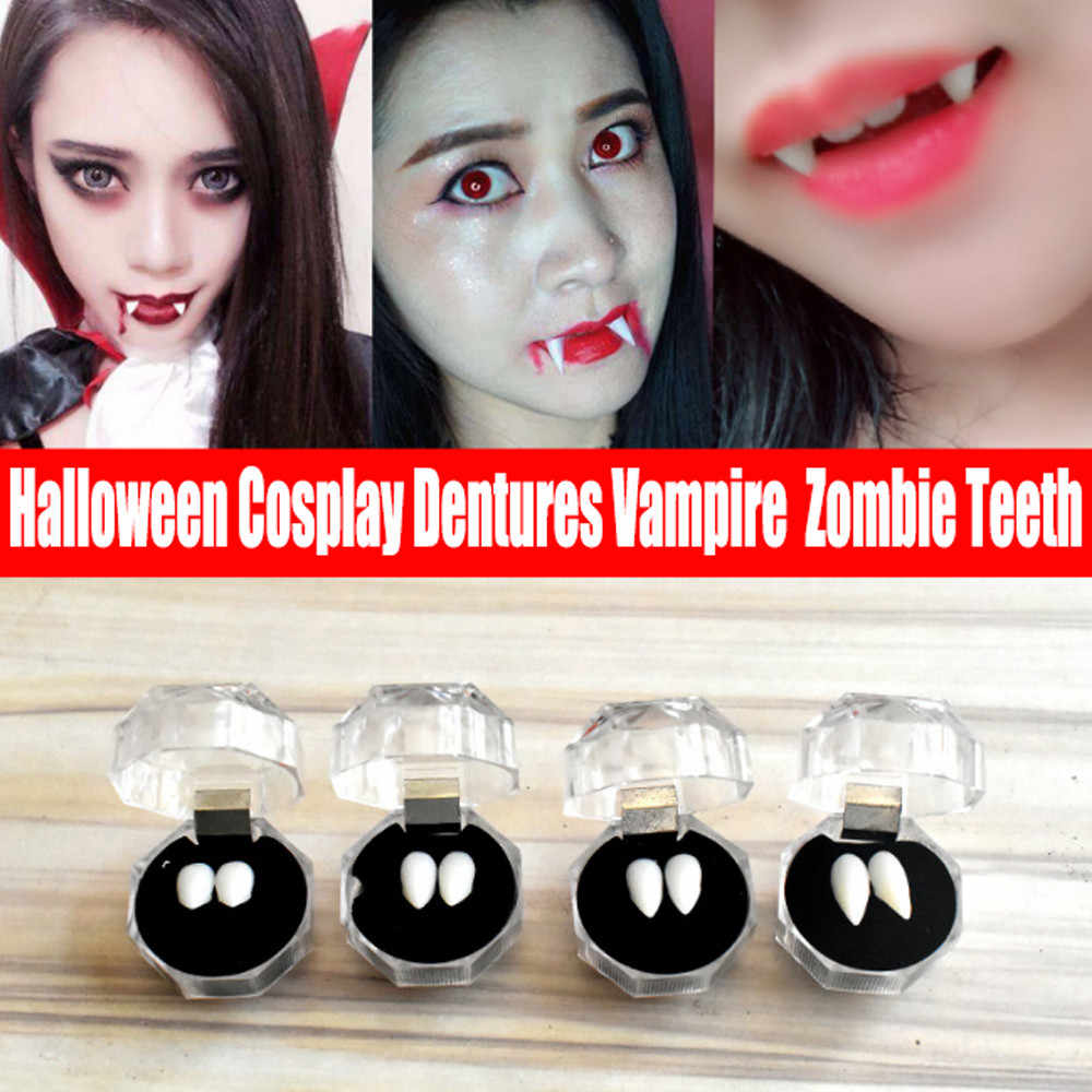 Halloween Cosplay Dentures Zombie-Vampire-Teeth Ghost Devil Fangs Party Props US