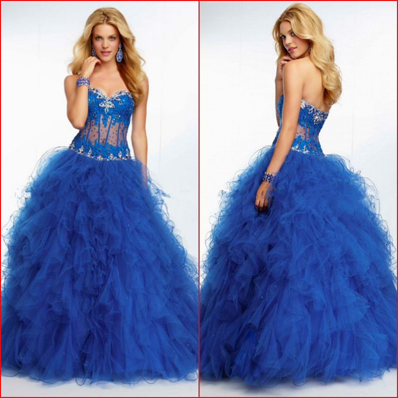 2017 Elegant Ball Gown Lace Bodycon Beads Love Forever Royal Blue Wedding Dress In Dresses From Weddings Events On Aliexpress Alibaba Group