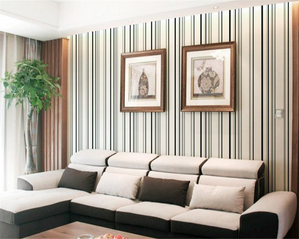Beibehang Vertical stripes wallpaper Joker sitting room sofa TV setting wallpaper the family decorates a bedroom 3d wallpaper beibehang shop for living room bedroom mediterranean wallpaper stripes wallpaper minimalist vertical stripes flocked wallpaper