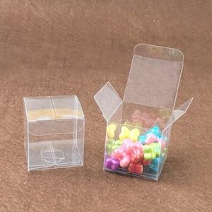 Image 3 - 200ピーススクエアプラスチックボックス収納pvcボックスクリア透明ボックス用ギフトボックスウェディング/ツール/食品/ジュエリー包装ディスプレイdiy