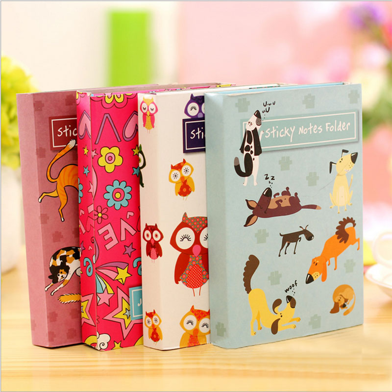 Korean Creative animal Sticky notes  Tower Hardcover Combine  Notebook Stationery Diary Notebook Office School Supplies With 1pc lot cute rabbit design memo pad office accessories memos sticky notes school stationery post it supplies tt 2766