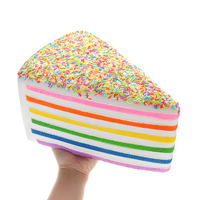 Huge Rainbow cake Jumbo for Squishy Slow Rising Big Kawaii Squishies Squeeze toys for kids Gift desk Decoration stress reliever