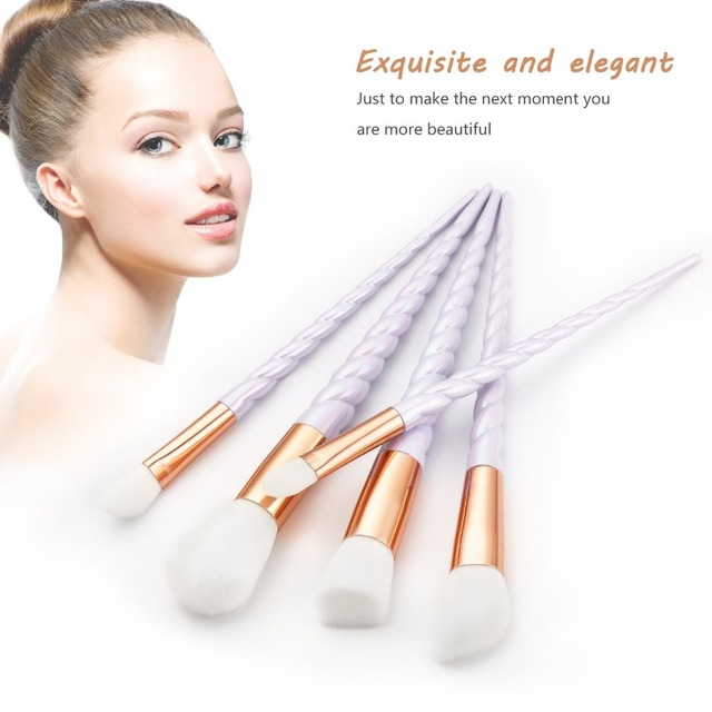 Unicorn Thread Makeup Brushes Professional Make Up Brushes Fiber Brush Set Makeup Tools Eyebrow Eyeliner Powder Brushes 1