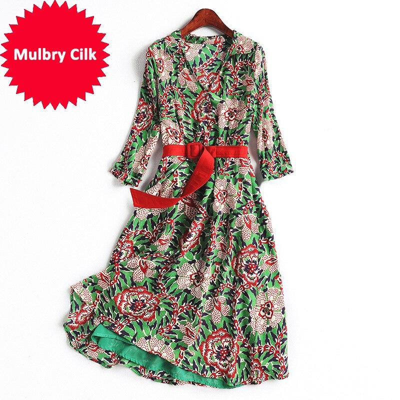 Robe Color Soie Picture Haute Femmes Réel Robes Qualité R88371a orBedCx