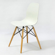Fashion 100% Wooden & Plastic chair,white,Red blue,dining chair,living room furniture, New leisure bar Chair,wooden furniture(China)