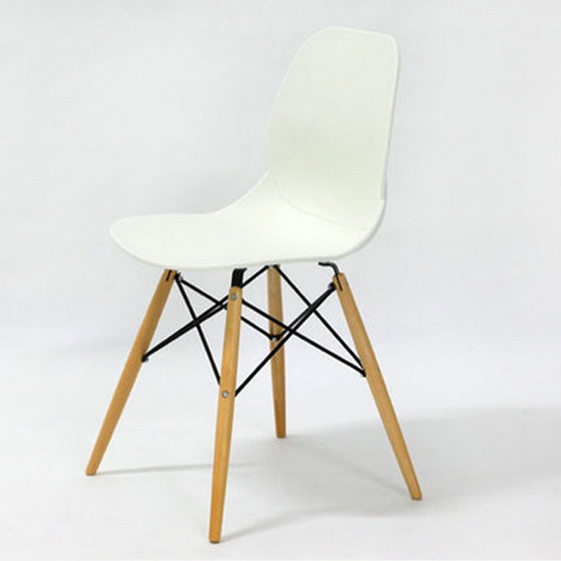 Mode 100 Holz Kunststoff Stuhl Weiss Rot Blau