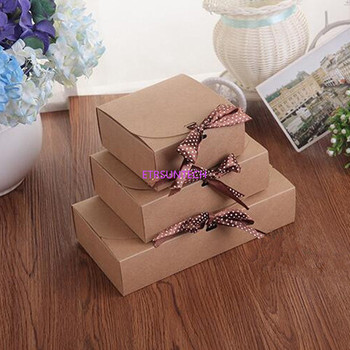 100pcs/lot 3 Size Paper Craft Boxes, underwear packaging gift boxes Sock Packing Box