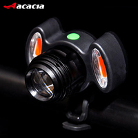ACACIA Cycling Front Lamp Adjustable Bicycle Headlight USB Rechargeable Lamp 3 Mode IPX 6 Waterproof T6