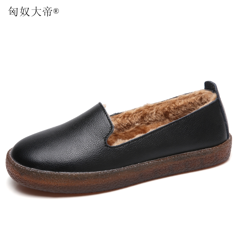 Men's Casual Shoes Ingenious Men Shoes Genuine Leather Loafers Shoes Cow Leather Loafers Round Head Breathable Solid Casual Shoes Set Of Feet Rubber Shoes Shoes